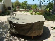 "Patio Set Cover 104""Dia. Fits square, Oval or Round table set"