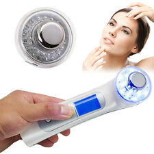 Photon 5 in1 Ultrasonic Galvanic Ion Facial Skin Care Anti Ageing 3 Color New