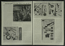 Galpin Society Instruments For Private Music 1957 2 Page Photo Article