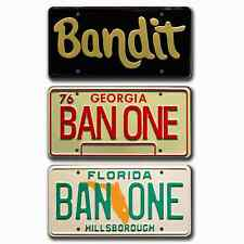 Smokey and the Bandit / Burt Reynolds / Trans Am BAN ONE *STAMPED* 3 Prop Plates