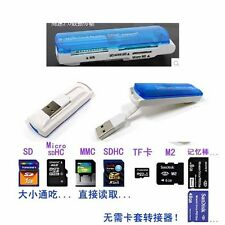 All in 1 USB 2.0 Memory Multi-Card Reader SDCH MS/SD/TF/m2 brand new