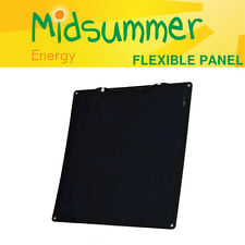 50W 12V Semi-flexible Solar PV Panel with self-adhesive backing - narrowboats
