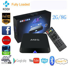 M8S Ultra HD 4K 2G+8G S812 Quad Core Android 4.4 Smart TV Box Kodi Xbmc BT IPTV
