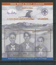 ANTIGUA & BARBUDA # 2634 MNH WORLD SCOUT JAMBOREE, THAILAND 2002 Souvenir Sheet