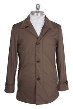 Ermenegildo Zegna Polyster 40US/50EU Outerwear Jacket Long Light Taupe Brown