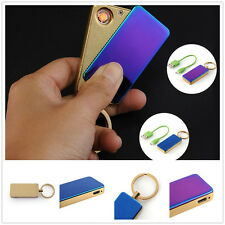 Flameless Windproof Strip Slide Tungsten Electric USB Rechargeable Cigar Lighter