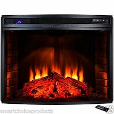 "33"" Freestanding 1500W Adjustable 6 Setting Electric Fireplace Stove Remote Heat"