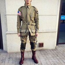 WWII US ARMY M1942 M42 AIRBORNE PARATROOPER UNIFORM JUMPSUIT JACKET TROUSERS -XL