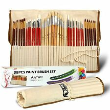 Artify 38 Pcs Paint Brushes Art Set for Acrylic Oil Watercolor and Gouache a Kit