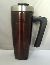 Starbucks Brown VIA Ready Brew  Stainless Steel Tumbler 2009!