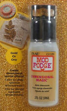 Plaid:Craft Mod Podge Decoupage Dimensional Magic Glitter Gold 2oz CS11290