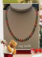 UNIQUE MULTI TOURMALINE BEADED HANDMADE NECKLACE JEWELLERY @ JAY WOLFE