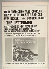 The Lettermen PRINT AD - 1962 ~~ Once Upon A Time