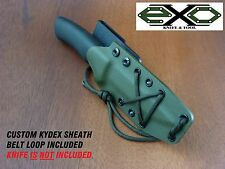 "HEAVY DUTY  0.093"" Custom Kydex Sheath for Mora Bushcraft, OLIVE DRAB"