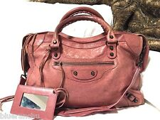 Authentic BALENCIAGA 2012 Rose Bruyere City with Classic Hardware