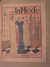 """C""""est LA MODE n° 10 / 11 mars 1934  le manteau trois quarts à la mode"""