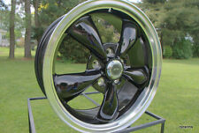 "17""x8""   BLACK AMERICAN RACING TORQ M WHEEL CAMARO CHEVELLE BUICK OLDS 5 ON 4.75"