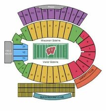 Wisconsin Badgers Football vs Illinois Tickets 11/12/16 HOMECOMING 2 Tickets