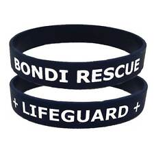 BONDI RESCUE + LIFEGUARD + SILICONE TWO SIDED NAVY / WHITE WRISTBAND