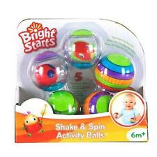 Bright Starts Shake and Spin Activity Balls Baby Toy age 6 months +