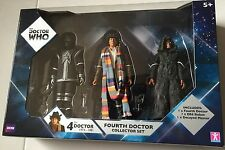 Doctor Who Actin Figures Triple Pack 4th DOCTOR, D84 ROBOT and DECAYED MASTER