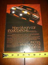 1988 LINCOLN MARK VII LSC - ORIGINAL AD