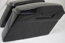 Vivid Black Stock touring Hard Saddlebags for Harley Road Glide Electra Street