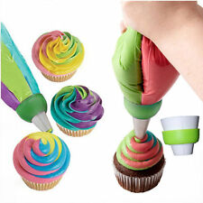 3 Colors Icing Piping Bag Nozzle Converter Cream Coupler Cake Decorate Tool