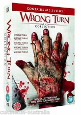 WRONG TURN 1 2 3 4 5 HORROR FILMS COLLECTORS BOX COLLECTION NEW 5 DVD 5 MOVIES