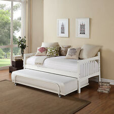 Twin Daybed With Trundle Storage Adult Bed Guest Living Room Furniture New