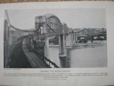 UK train photograph Saltash Bridge Plymouth 1951