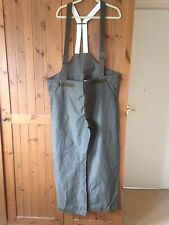 "German Army Waterproof Bib and Brace (original) Goretex 34/36"" waist"