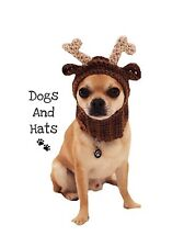 The Reindeer Deer hat, snood for your dog. Small Chihuahua, Yorkie. Costume