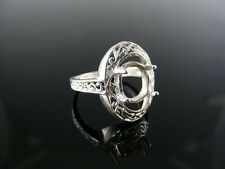 2069  RING SETTING STERLING SILVER, SIZE 6, 10X8 MM OVAL STONE
