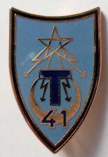 Insigne 41° RT RÉGIMENT TRANSMISSIONS modèle 37 mm ORIGINAL DRAGO H 574