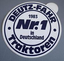 Aufkleber DEUTZ FAHR Traktoren Schlepper 1983 KHD Köln Sticker Autocollant
