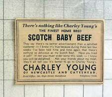 1939 There's Nothing Like Charley Youngs Scotch Baby Beef Newcastle Gateshead