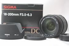 Excellent+ Sigma 18-200mm F3.5-6.3 DC Lens  For Nikon w/ box From Japan