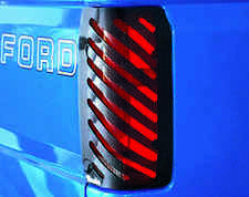 Slotted Smoke Tail Light Covers for 1993 - 1998 Jeep Grand Cherokee