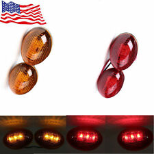 4X FIT 1999-2010 FOR Ford F350 Smoke Side Fender Dually Bed Marker LED Lights US