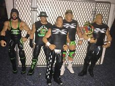 WWE DX Elite Wrestling Figure Lot Triple H Shawn Michaels Road Dogg Billy gunn X