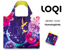 HUMMING BIRDS Designer Shopping BAG & POUCH Eco FOLDABLE Reusable Shopper LOQI