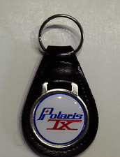 Reproduction Vintage Polaris TX Medallion Style Leather Keychain