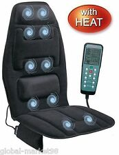 Comfort Shiatsu Back Lumbar Massage Cushion Heat Chair Home Seat Motor Auto Car