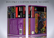 SUPER GHOULS'N GHOSTS. Box/Case. Super Nintendo. BOX + COVER. (NO GAME).