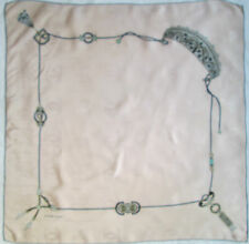 -Authentique Foulard MUST DE CARTIER Paris  soie  TBEG vintage scarf 88 x 88 cm