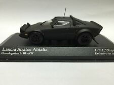 1/43 MINICHAMPS KYOSHO HOMOLOGATION IN BLACK JAPAN LANCIA STRATOS ALITALIA