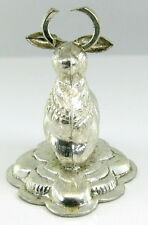 Real Solid Silver Religious Cow Nandi Shiva's Idol - Pre-Owned