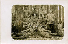 WWI GERMANY GROUP OF SOLDIERS 1916  REAL PHOTO POSTCARD, FIELDPOST
