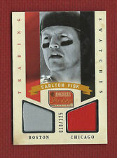 CARLTON FISK Dual Game Used Jersey SERiAL #'d /125 2013 America's Pastime #TS-CF